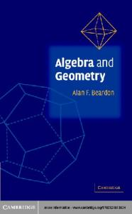 Algebra and Geometry