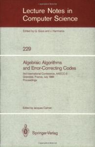 Algebraic Algorithms and Error-Correcting Codes 3 conf., AAECC-3