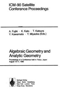 Algebraic Geometry and Analysis Geometry