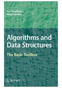 Algorithms and Data Structures. The Basic Toolbox