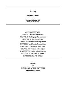 Alroy Or The Prince Of The Captivity