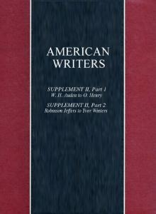 American Writers, Supplement 2