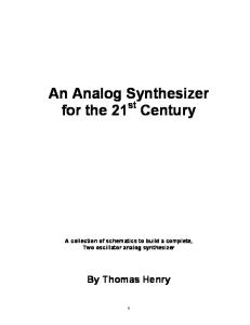 An Analog Synthesizer for the 21st Century