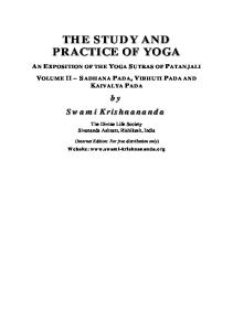 An Exposition of the Yoga Sutras of Patanjali