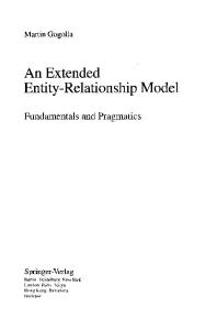 An Extended Entity-Relationship Model: Fundamentals and Pragmatics (Lecture Notes in Computer Science)