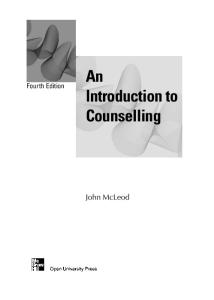 An Introduction to Counselling, 4th Edition