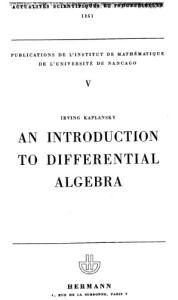 An Introduction to Differential Algebra