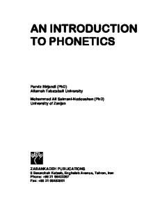An Introduction to Phonetics