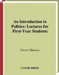 An Introduction to Politics: Lectures for First Year Students