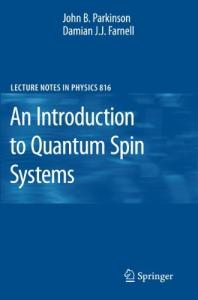 An introduction to quantum spin systems
