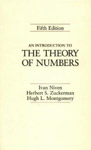 An Introduction to the Theory of Numbers, 5th Edition