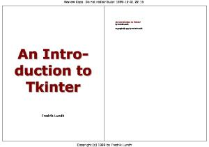 An introduction to Tkinter