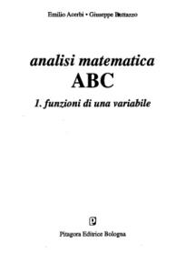 Analisi matematica ABC: 1
