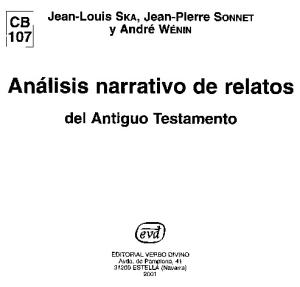 Análisis Narrativo de Relatos del Antiguo Testamento