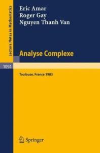 Analyse Complexe