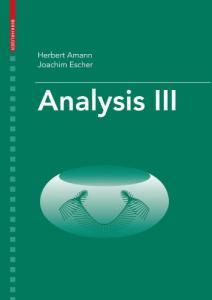 Analysis III (v. 3)