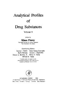 Analytical Profiles of Drug Substances and Excipients Volume