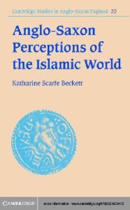 Anglo saxon perceptions islamic world