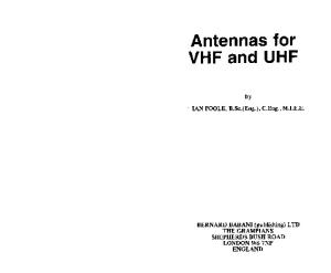 Antennas for VHF and UHF (BP)