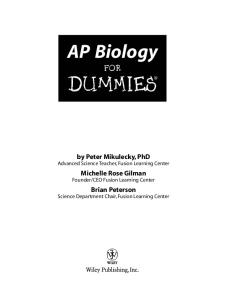 AP Biology For Dummies (For Dummies (Math & Science))