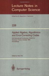Applied Algebra, Algorithms and Error-Correcting Codes 2 conf., AAECC-2