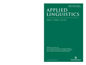 Applied Linguistics, volume 31, issue 2 , 2010