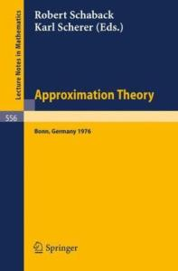 Approximation Theory