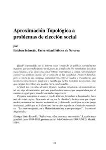 Aproximacion Topologica A Problemas De Eleccion Social