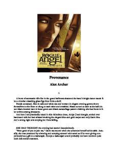 Archer, Alex - Rogue Angel 11 - Provenance