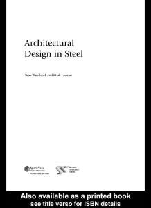 Architectural Design in Steel