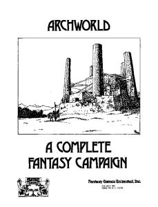 Archworld Fantasy Miniatures Rules