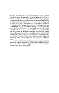 Aristophanes: Myth, Ritual and Comedy