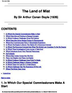 Arthur Conan Doyle - The Land of Mist