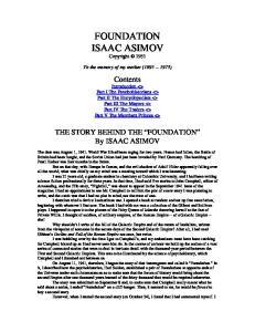 Asimov, Isaac - Foundation - Isaac Asimov