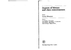 Aspects of History and Class Consciousness