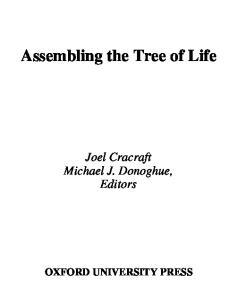 Assembling the Tree of Life [biology, taxonomy