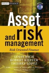 Asset and risk management: Risk oriented finance
