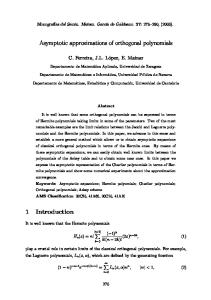 Asymptotic approximations of orthogonal polynomials