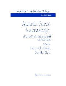 Atomic Force Microscopy Methods