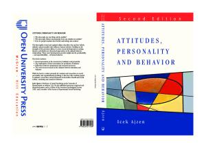 Attitudes, Personality and Behavior (2nd Edition)