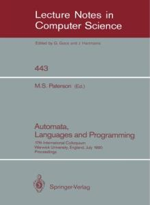 Automata, Languages and Programming, 17 conf., ICALP90
