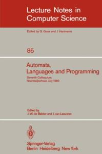 Automata, Languages and Programming, 7 conf