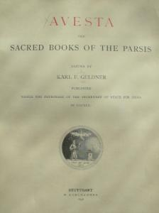 Avesta, the Sacred Books of the Parsis, Vol. 1