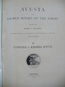 Avesta, the Sacred Books of the Parsis, Vol. 2