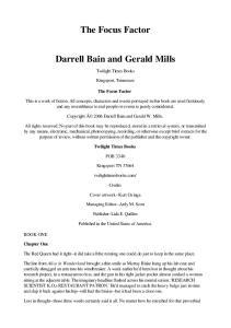 Bain, Darrell - The Focus Factor