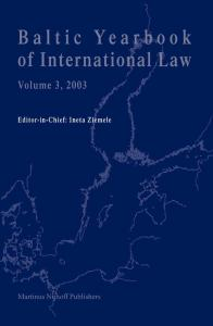 Baltic Yearbook of International Law