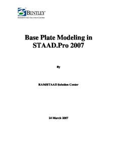 Base Plate Modelling Using Staad Pro 2007