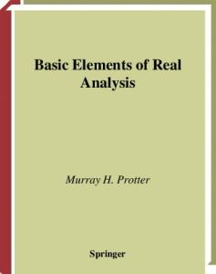 Basic Elements of Real Analysis