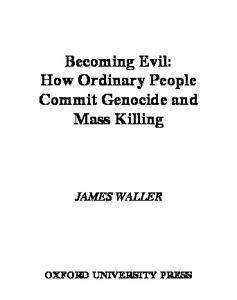 Becoming Evil