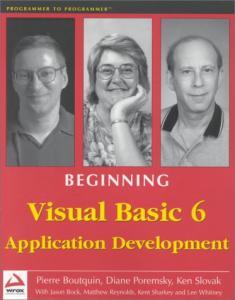 Beginning Visual Basic 6 Application Development